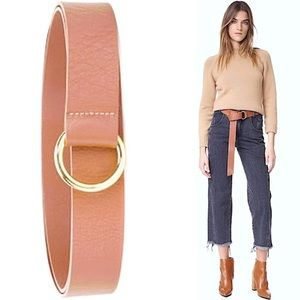 NWT tan leather Mia Wrap belt from B-low the belt